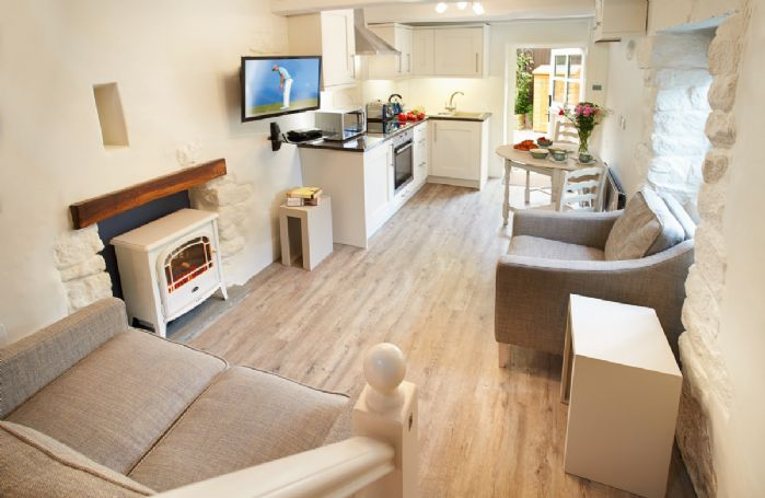 Ground floor: Open plan kitchen/dining and living area