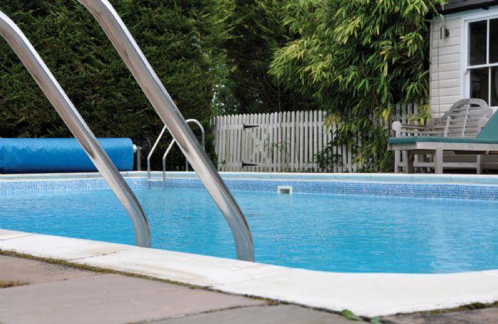 The pool is 12m long and 6m wide and heated between 1st May and 30th September