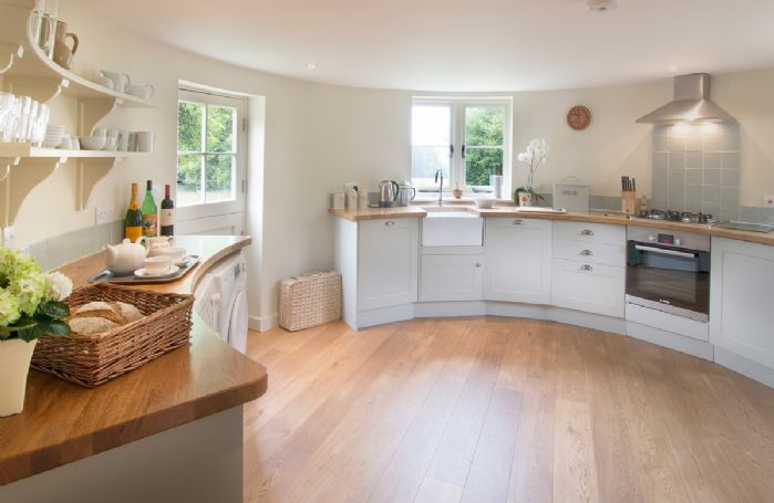 Ground floor:  Circular kitchen
