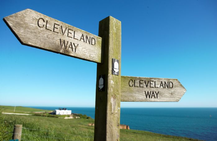 The Cleveland Way runs right by the lighthouse