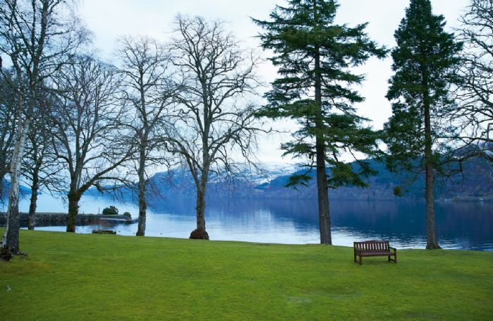 Views from the front door of the Complex, immediately on the shores of Loch Ness.
