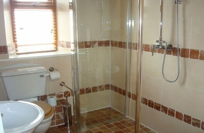 First floor:  Jack and Jill bathroom with walk-in shower
