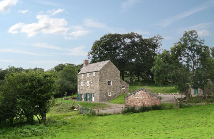 Lletty and Annexe situated high above the Eglwysbach Valley