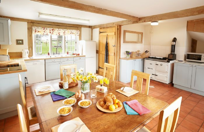 Ground floor:  Kitchen with Aga in the Cottage
