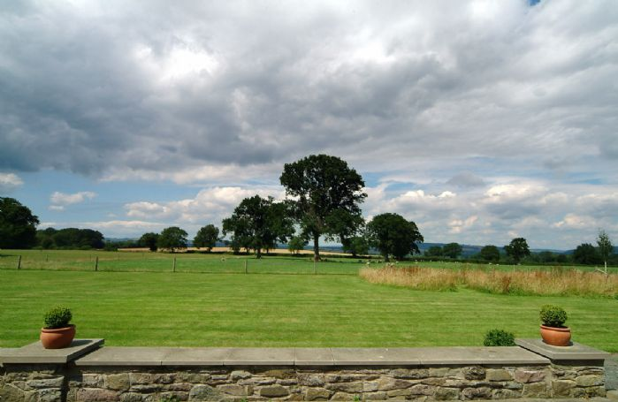 Views across open countryside