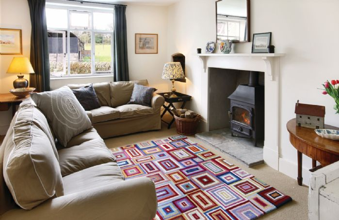 Ground floor:  Second sitting room with wood burning stove