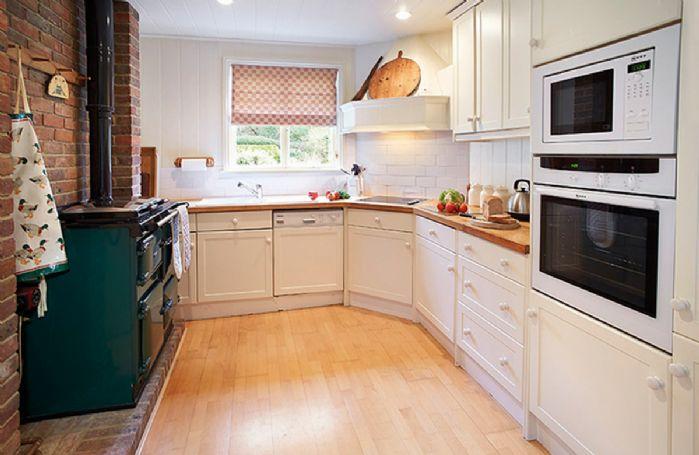 Ground floor:  Kitchen with oil Rayburn