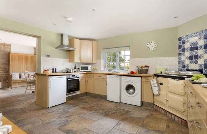 Ground floor: Large kitchen with Aga and dining area