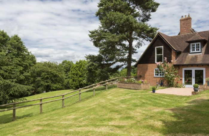 Set on a working farm with private enclosed quarter of an acre garden with large double outdoor terrace
