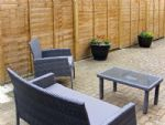 Comfortable seating to enjoy the outside space.