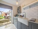 Kitchen with french doors to garden