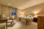 Ground floor: Second bedroom with two 3' zip and link beds which can be converted to a 6' super-king bed on request