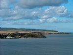 The view northwards to Sea Life Centre and Hayburn Wyke cliffs.