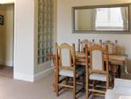 plenty of space for the dining table and chairs