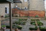 The walled garden showing an array of fresh herbs