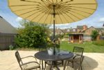 Patio with garden furniture