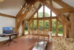 Ground floor: Dining hall with floor to ceiling gable end