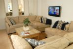 An aspect of the open plan Living area