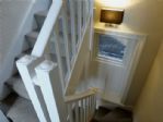 Fully carpeted stairs and sturdy handrails