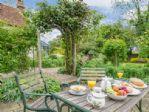 Al fresco dining in the private garden