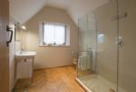 The converted barn's contemporary shower room