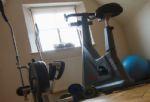 The gym/yoga studio within the barn