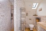 A view of an en-suite shower room