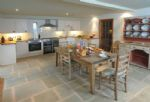 Ground floor: Large kitchen with dining area