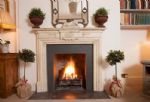 The pretty fireplace