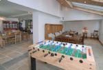 Watery Park Barn Ground floor:  Garden room with table football