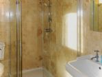 ... and a super shower with glass enclosure.
