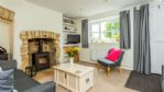 Fairfield Cottage Living Area and Wood Burner - StayCotswold