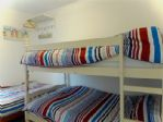 Children's bedroom - bunks and single bed