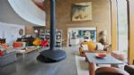 The Curved House Living Area - StayCotswold