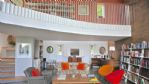 The Curved House Landing View - StayCotswold