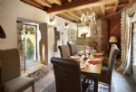 Ground floor: Dining room with views out onto the old mill wheel