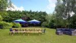 Upton Downs Farmhouse Outdoor Dining Area - StayCotswold