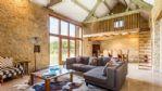 Marsh Farm Barn Lounge Area - StayCotswold