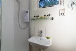 Shower room with wash basin and WC