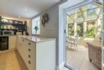 Ground floor: The kitchen leads through into the conservatory