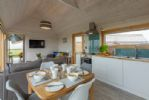 Open plan kitchen & dining area.