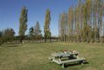 Outside: Communal picnic area