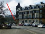 The apartment is right on the Esplanade - to the left of The Weston Hotel.