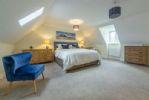 Second floor: Master bedroom with super-king bed