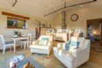 Ground Floor: The Leveret has an open plan living area with vaulted ceiling