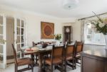 Ground floor: Elegant dining table with seating for eight guests