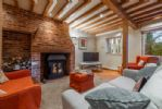 Ground floor: The sitting room with wood burning stove
