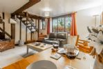 Ground floor: Open-plan dining and sitting area