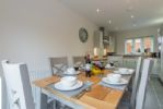 Ground floor: The dual aspect dining kitchen is spacious and light