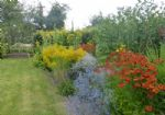 One of the cottage garden borders